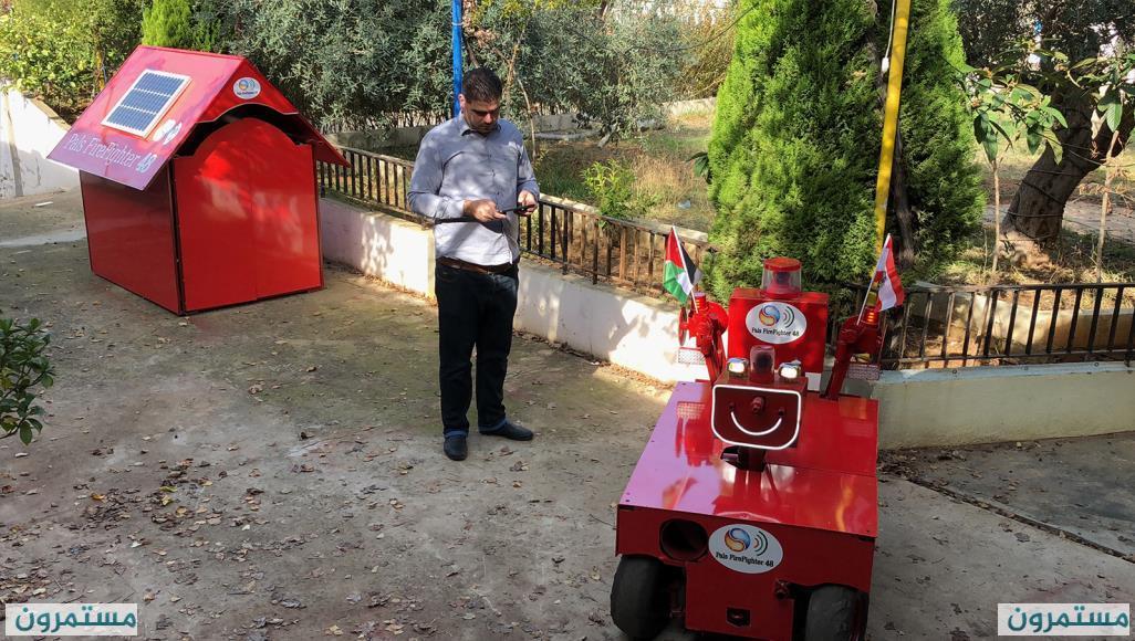 عامر درويش.. لاجئ فلسطيني حوّلته إصابته أثناء العمل إلى مخترع