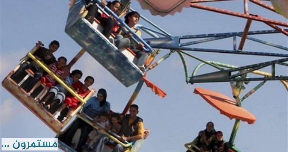 مراجيح الاطفال فرحة الأطفال في العيد ومصدر رزق للشباب
