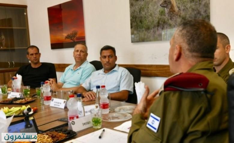 كوخافي يلتقي رجل أعمال فلسطيني في رام الله