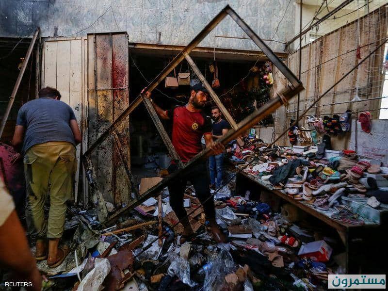 ليلة دامية في بغداد.. عشرات القتلى في انفجار بسوق شعبي