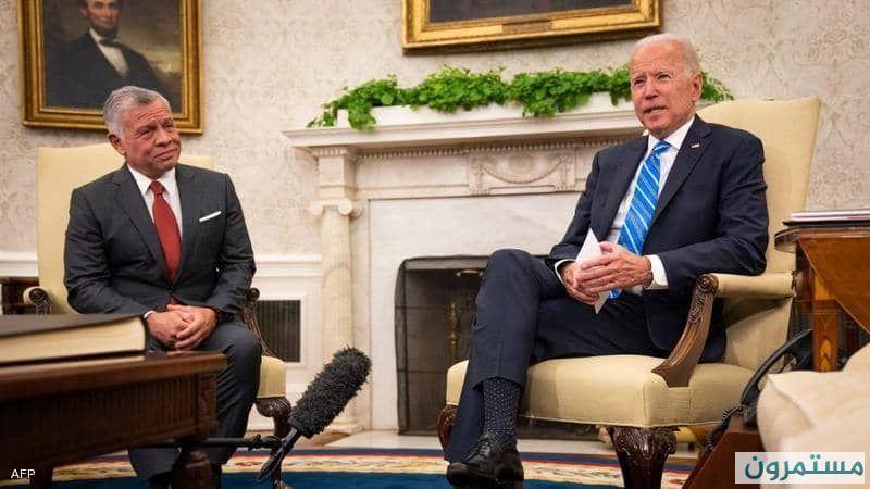 """الرئيس جو بايدن """"واشنطن تتطلع إلى الأردن كمركز ثقل عسكري بديلا عن قطر"""""""