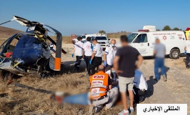 اليوم: إصابة إسرائيليين بجروح إثر تحطم مروحية