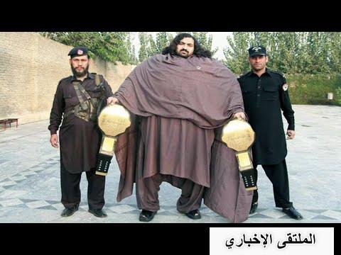 خان بابا أقوى وأضخم رجل بالعالم , عندما يمشي في الشارع يندهش الجميع