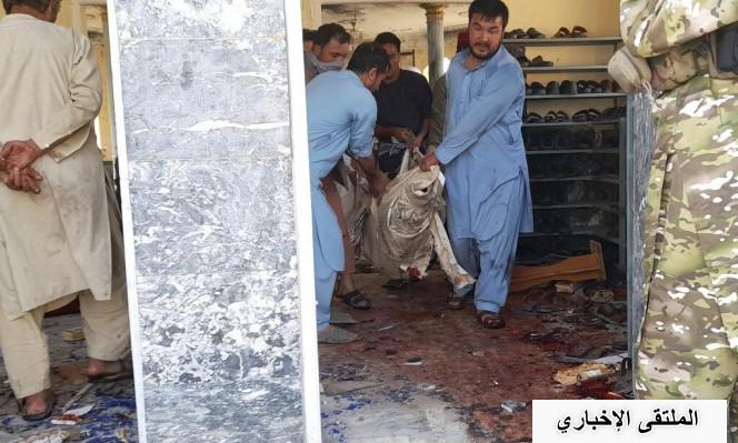 شاهد:أفغانستان 100 قتيل جرّاء تفجير استهدف مسجدا